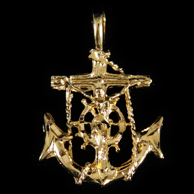 Sailors Cross With Rope - R-92