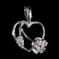 Heart With Hanging Rose - RDTF-13